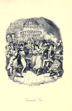 Greenwich Fair (riotous country dance) by George Cruikshank, Sketches by Boz, 1836. Archives.org