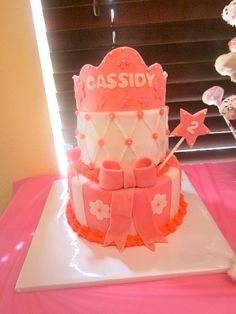 My SIL made this cake for my daughters #birthday #party #princess