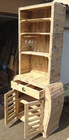 China hutch made of pallets