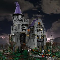Halloween in the Castle od Lord Afol | Based on the Lego Ide… | Flickr Lego Halloween, Lego Castle, Lego Creator, Lego Moc, Old Glory, Cool Lego, Lego Building, Legoland, Mythical Creatures