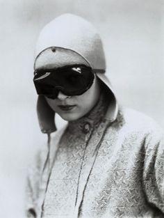 Wanda in motorcycle gear, c1930 (Marion Wulz)