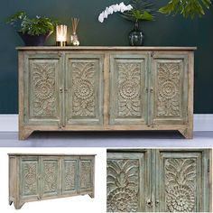 Store your extra dinnerware, flatware, and table linens in a buffet table or sideboard. Shop our great selection of stylish buffet tables and sideboards. Solid Wood Sideboard, Sideboard Buffet, Buffet Tables, Painted Furniture, Accent Furniture, Vintage Furniture, Furniture Design, Furniture Makeover, Home Decor Bedroom