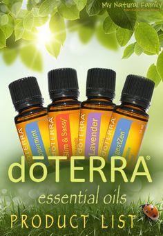 doTERRA Essential Oils Product List