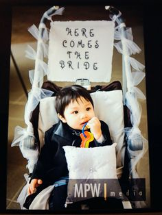 Tried to decorate stroller for a wedding where my son was ring bearer.
