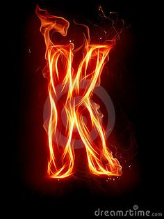 K on fire! Letter K, Cool Lettering, Fire Heart, Alphabet, Typography, Neon Signs, Wallpaper, Quotes, Fire