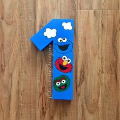 Sesame Street Inspired Number for parties/prop by EleniqueDesigns on Etsy https://www.etsy.com/listing/471732976/sesame-street-inspired-number-for