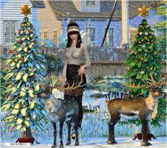 Jenni Sims: Christmas Holiday - reindeer,  Christmas Tree part 3 • Sims 4 Downloads