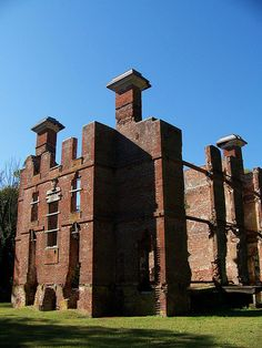 Rosewell Plantation ruins, Gloucester, Virginia.  Thomas Jefferson was a frequent visitor, and wrote the first draft of the Declaration of Independence here.