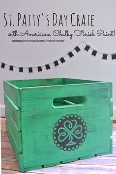 Easy Vintage Crate with Americana Chalky Finish Paint from One Project Closer!