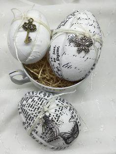 RURO / Sada veľkonočných vajíčok - patchwork - Easter Eggs, vintage style