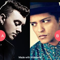 Sam Smith or Bruno Mars? Click here to vote @ http://getwishboneapp.com/share/977970