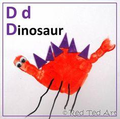 Handprint Alphabet - D is for Dinosaur