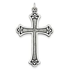 Sterling Silver Antiqued Cross Pendant ** Click image to review more details.