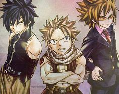 Gray, Natsu, and Leo! My God, they're hot as hell. lol I mean, look at Gray!! *drools*