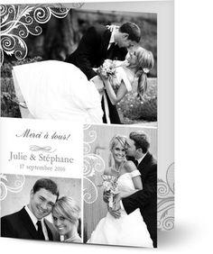 Carte remerciement mariage personnalisées avec photo | Optimalprint Suisse