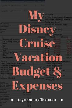 My Disney Cruise Vacation Budget and Expenses disney cruise, crusing with disney #disney #cruise #cruising