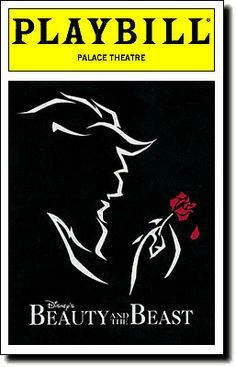 Beauty and the Beast playbill. /search/?q=%23DisneyonBroadway&rs=hashtag