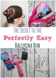 Learn My Secret to an Easy Ballerina Bun!! Come see an easy how to video and close up photos for this hairstyle just in time for dance recital and dance competition season!  AD #GoodyStyle
