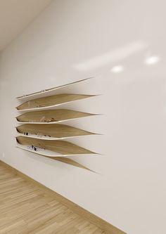 // The wall shelves on Behance
