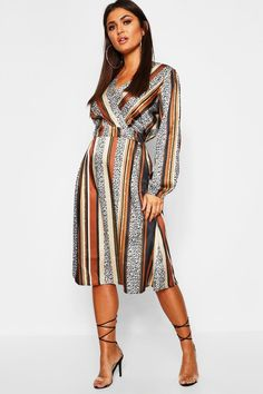 Buy Boohoo Striped Button Front Midi Dress from the Next UK online shop Midi Skater Dress, Striped Midi Dress, Black Midi Dress, Skater Dresses, Maxis, Slimming World, Wrap Dress, Dress Up, Robes Midi