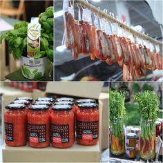 Basilic, poutargue, sauce tomate et carottes