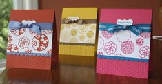 Cute Stampin Up cards.