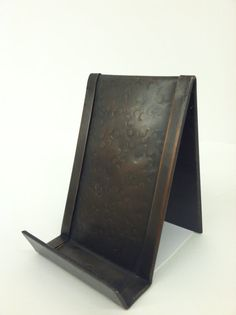 Vertical Business Card Holder Bronze Patina