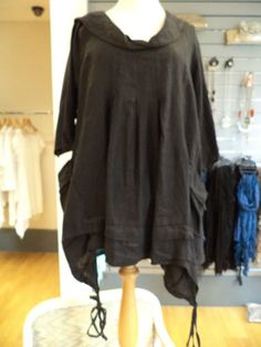 SORENTO SMOCK STYLE LAYERING TUNIC-L/XL ONE SIZE- LAGENLOOK VERY QUIRKY (LINEN) | eBay