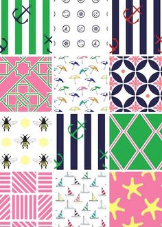 preppy party decor...print and use in the banner