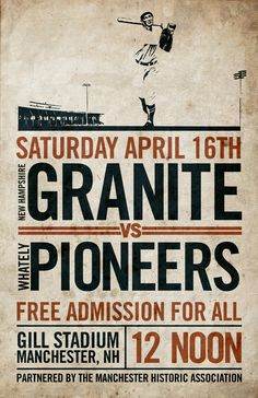 """vintage baseball invite -- """"Free Admission For All"""", clearly not an ad from this century ;-)"""