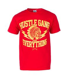 HUSTLEGANG+Chief+logo+tee+Short+sleeves+Crew+neck+with+ribbed+collar+Cotton+for+comfort