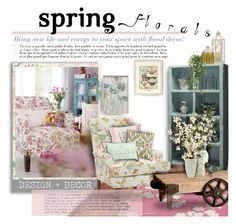"""""""Spring Florals"""" by thewondersoffashion ❤ liked on Polyvore featuring interior, interiors, interior design, home, home decor, interior decorating, Jill Rosenwald, Miles Talbott, Primitives By Kathy and Pier 1 Imports"""