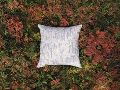 This nature inspired cushion cover is designed by Laura Carlin, award-winning ceramist and illustrator. Blue Cushion Covers, Blue Cushions, Silk Screen Printing, Scandinavian Home, Shades Of Grey, Home Textile, Pattern Design, Throw Pillows, Prints