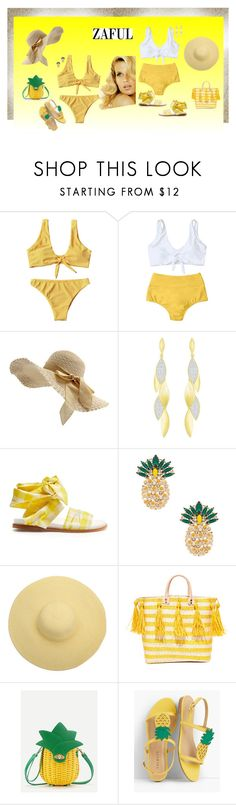 """""""Knotted Bikini Sets--Contest Sponsored by Zaful.com"""" by jacksondobe ❤ liked on Polyvore featuring Consuelo, duty free, Marques'Almeida, Anton Heunis, Mar y Sol, WithChic and Talbots"""