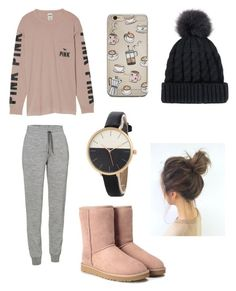 """""""Being lazy"""" by smminnick ❤ liked on Polyvore featuring Icebreaker, Victoria's Secret and UGG"""