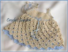 """Crochet baby dress """"crochet free pattern"""""""