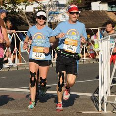 Love this race picture of us.  My brother is the best pacer!  #Carlsbad5000 #altrarunning #kttape #runrocknroll #runningsiblings by charlene_ragsdale