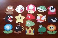 Mario themed door tags!