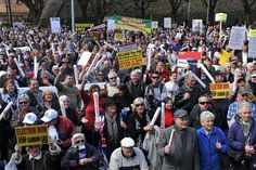 Sydney protesters gather to show their opposition to the carbon tax July 2012