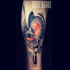Music tattoo done at bobektattoo by Marie Kraus - #music tattoo
