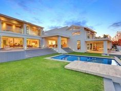 Living at it's finest in this 5 bedroom house with amazing views all around in Garden. 5 Bedroom House, Bungalow House Design, Luxury Homes Dream Houses, Real Estate Business, Luxury Living, South Africa, Mansions, House Styles, Amazing