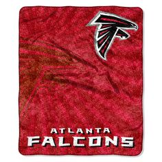 Falcons 50x60 Sherpa Throw - Strobe Series