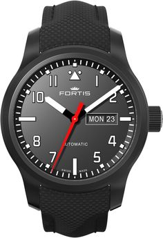 Fortis Watch Aviatis Aeromaster Professional #add-content #basel-17 #bezel-fixed #bracelet-strap-leather #brand-fortis #case-depth-mm #case-material-black-pvd #case-width-42mm #date-yes #day-yes #delivery-timescale-call-us #dial-colour-black #gender-mens #luxury #movement-automatic #new-product-yes #official-stockist-for-fortis-watches #packaging-fortis-watch-packaging #style-dress #subcat-aviatis #supplier-model-no-655-18-10-lp #warranty-fortis-official-2-year-guarantee…