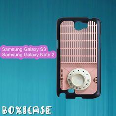 Pink Radio---Samsung Galaxy S3 Case,Samsung Galaxy Note 2 Case,in plastic by Boxicase, $15.95