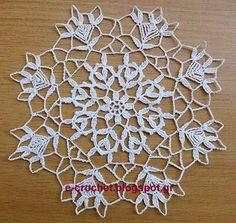 Crochet jewelry, home decor, patterns & lessons-Recording and spreading Greek treasures. Crochet Tunic Pattern, Crochet Placemats, Crochet Circles, Vintage Beauty, Crochet Flowers, Doilies, Stitch, Handmade, Jun