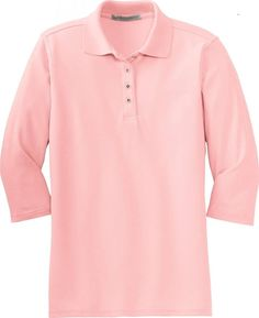 Port Authority Women's Silk Touch 3/4, Sleeve Sport Shirt, light pink, X-Large >>> Insider's special review you can't miss. Read more  : Plus size shirts