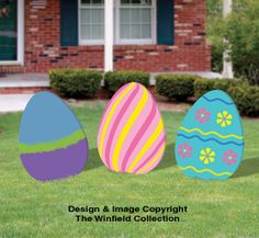 Giant Easter Eggs Woodcraft Pattern Set