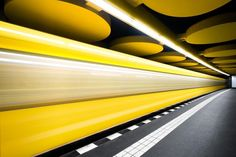 Chris Forsyth is an architectural photographer from Montreal, he has an obsession with underground forms of public transport. His photo series Metro looks at the futuristic underworlds of Munich, Berlin and Montreal public railway. U Bahn Station, Geometric Photography, Suspended Animation, Tunnel Of Love, Epic Photos, Metro Station, World's Most Beautiful, Photo Instagram, Public Transport