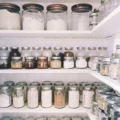 homedecor kitchen Inspiration for Organizing Your Zero Waste Pantry With Bulk Food Items and Glass Storage - The Well Essentials Pantry Organisation, Kitchen Organization, Kitchen Storage, Pantry Ideas, Kitchen Design, Kitchen Decor, Rustic Kitchen, Corner Storage, Kitchen Pantry