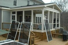 screened in porch ideas | ... porch is smaller. We don't want a knee wall. Will use Ezebreeze vinyl